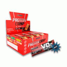Crisp Bar (540g) Caixa 12 Unidades + Vo2 Slim Protein (30g)